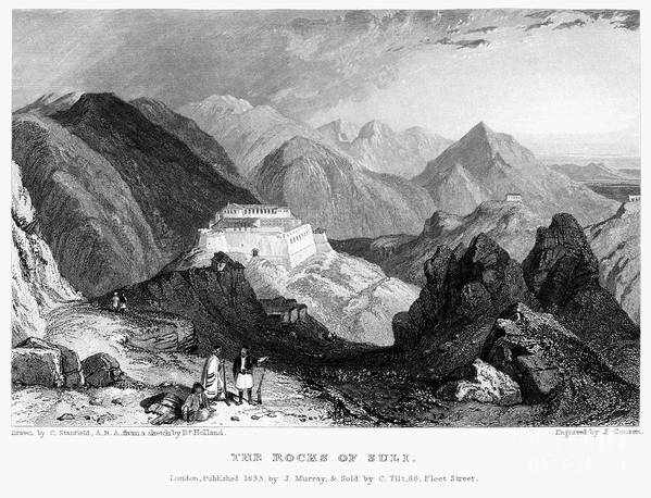 1833 Poster featuring the photograph Greece: Souli, 1833 by Granger