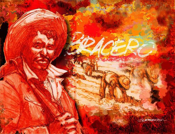 Braceros Poster featuring the digital art Bracero by Dean Gleisberg