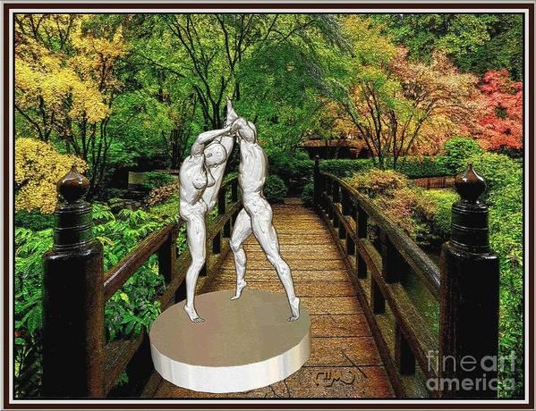 Modern Painting Poster featuring the digital art erotic acrobatics 5EA 2 by Pemaro