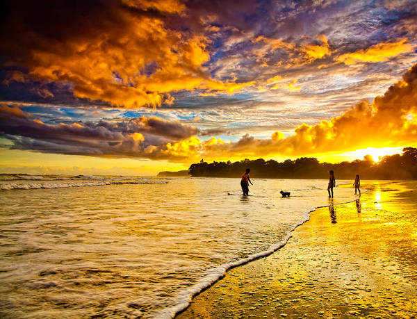 Landscape Poster featuring the photograph Sunset At The Coast by Iris Greenwell