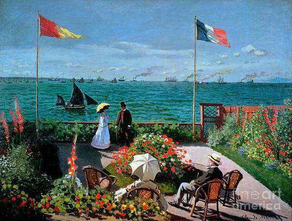 The Poster featuring the painting The Terrace At Sainte Adresse by Claude Monet
