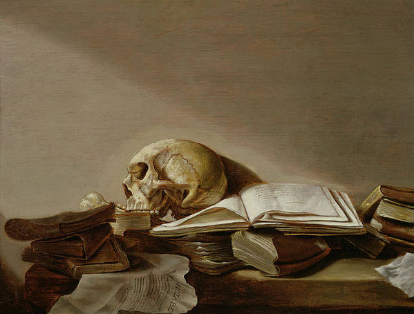Vanitas Poster featuring the painting Vanitas by Jan Davidsz de Heem
