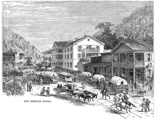1878 Poster featuring the painting Arkansas Hot Springs by Granger