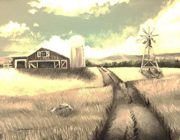 Farm Poster featuring the painting A Warm Welcome Antique by Shana Rowe Jackson