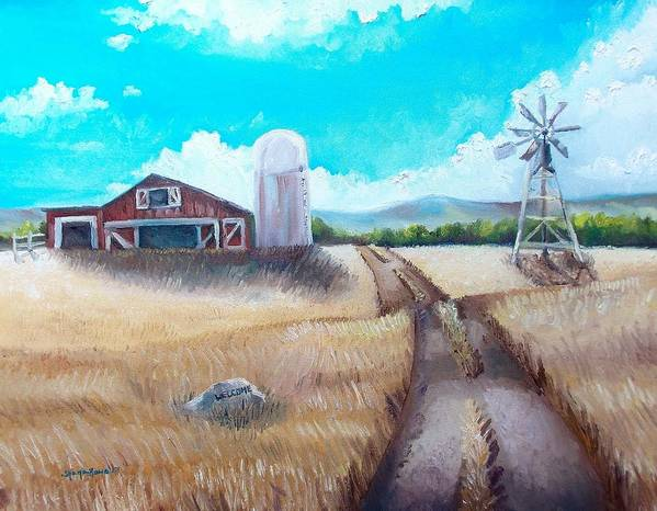 Farm Poster featuring the painting A Warm Welcome by Shana Rowe Jackson