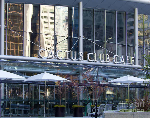 Cactus Club Poster featuring the photograph Cactus Club Cafe II by Chris Dutton