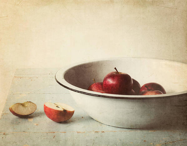 Apple Poster featuring the photograph Country Morning by Amy Weiss