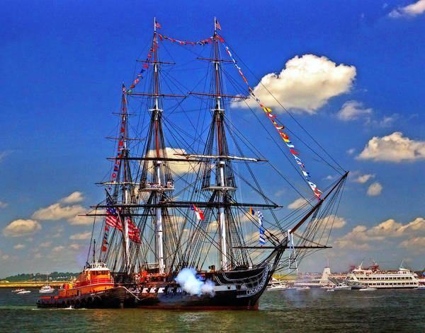 Uss Constitution Poster featuring the photograph Old Ironsides 1012 by Jeff Stallard
