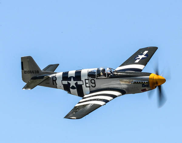 Mustang Poster featuring the photograph P-51 Mustang Fighter by Puget Exposure