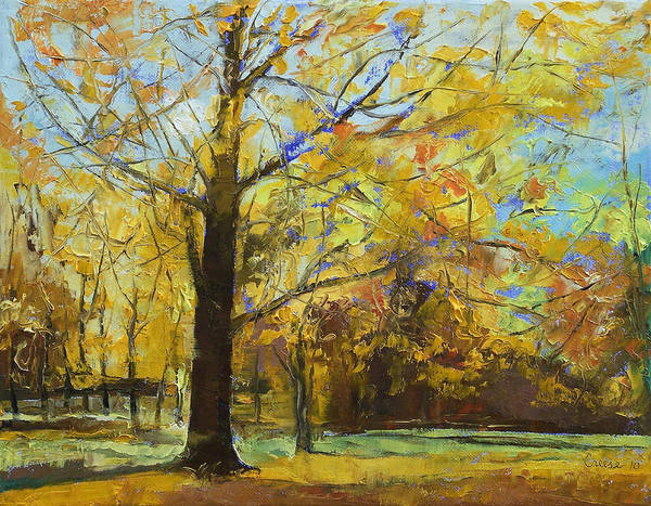 Michael Creese Poster featuring the painting Shades Of Autumn by Michael Creese