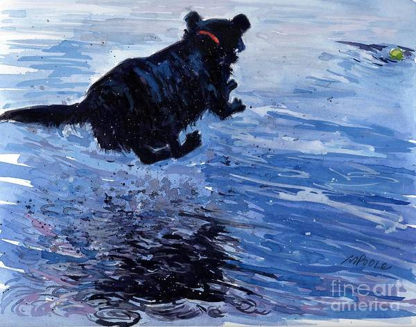 Black Labrador Poster featuring the painting Take Flight by Molly Poole