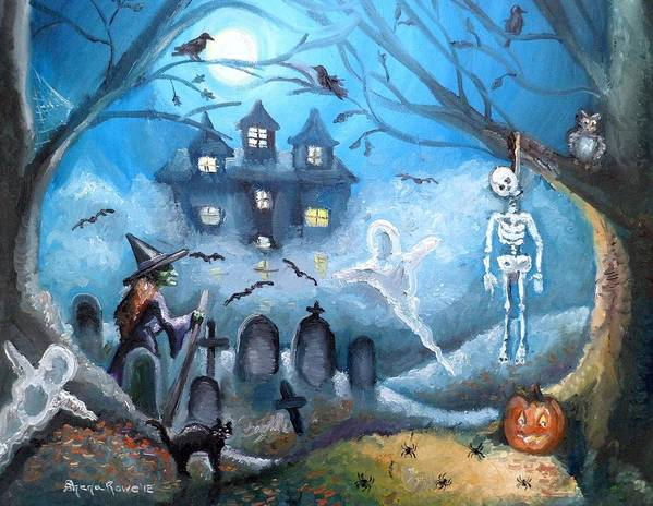 Halloween Poster featuring the painting When October Comes by Shana Rowe Jackson