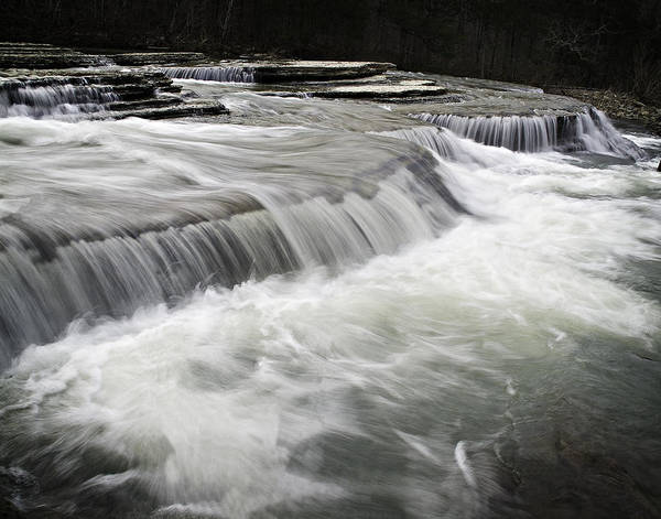 Arkansas Poster featuring the photograph 0804-0113 Six Finger Falls 2 by Randy Forrester