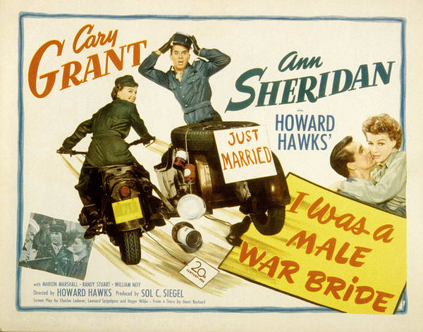 1940s Movies Poster featuring the photograph I Was A Male War Bride, Cary Grant, Ann by Everett