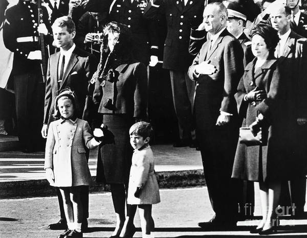 1963 Poster featuring the photograph Kennedy Funeral, 1963 by Granger