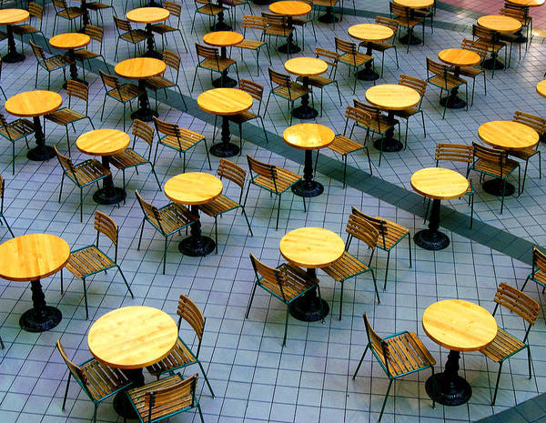 Table Poster featuring the photograph Tables And Chairs II by Steven Ainsworth
