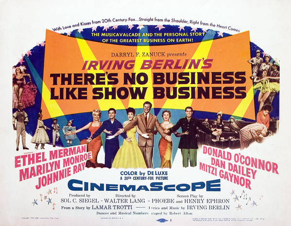 1950s Poster Art Poster featuring the photograph Theres No Business Like Show Business by Everett