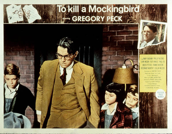 1960s Movies Poster featuring the photograph To Kill A Mockingbird, Gregory Peck by Everett