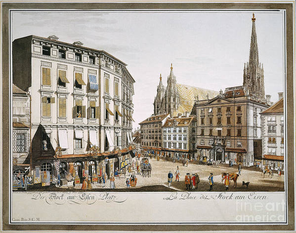 1779 Poster featuring the photograph Vienna, 1779 by Granger