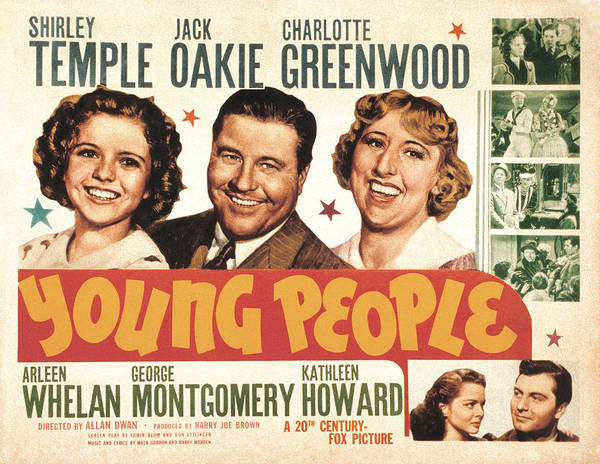 1940 Movies Poster featuring the photograph Young People, Shirley Temple, Jack by Everett