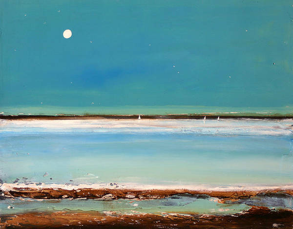Landscape Poster featuring the painting Beach Textures by Toni Grote