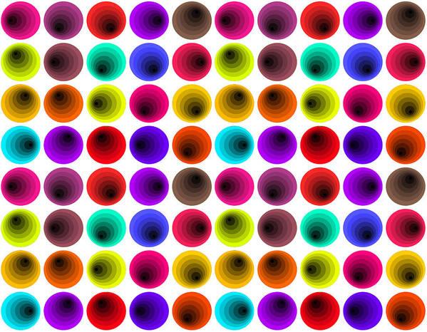 Hypnotize Poster featuring the digital art Hypnotized Optical Illusion by Sumit Mehndiratta