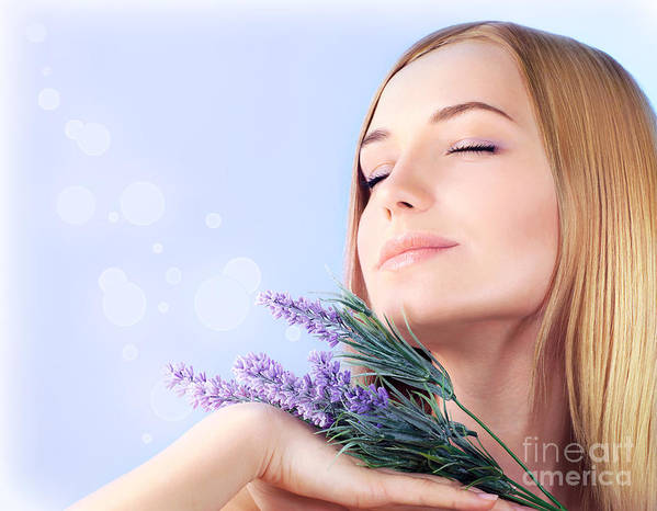 Adult Poster featuring the photograph Lavender Spa Aromatherapy by Anna Omelchenko