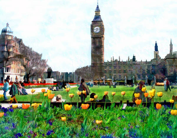 London Poster featuring the photograph Parliament Square London by Kurt Van Wagner