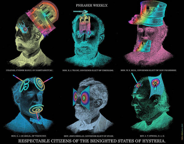 Negative Image Poster featuring the digital art Respectable Citizens Of Our Republic by Eric Edelman