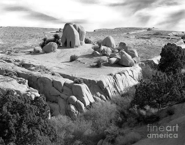 Original Poster featuring the photograph Sandstone Plateau by Christian Slanec