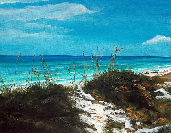 Seagrove Beach Poster featuring the painting Seagrove Beach Florida by Racquel Morgan