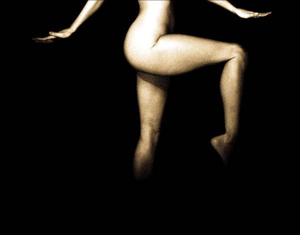 Nude Poster featuring the photograph Sneakin Sally Through The Alley by Bob Orsillo