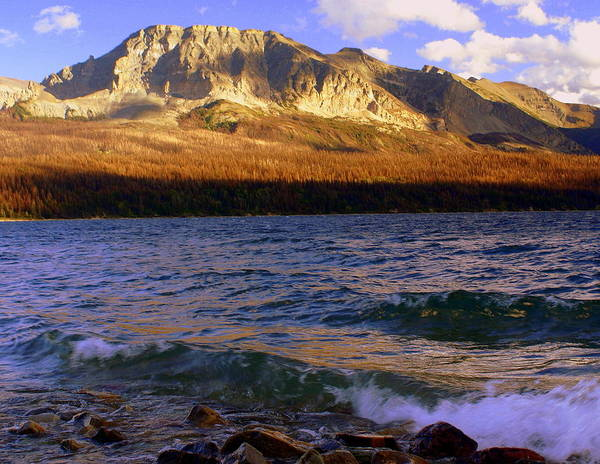 Glacier National Park Poster featuring the photograph Stormy St Marys by Marty Koch