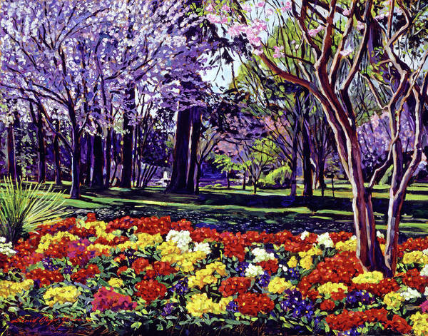 Spring Poster featuring the painting Sunday In The Park by David Lloyd Glover