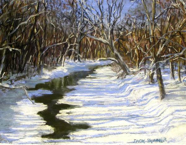 Assabet River Poster featuring the painting The Assabet River In Winter by Jack Skinner