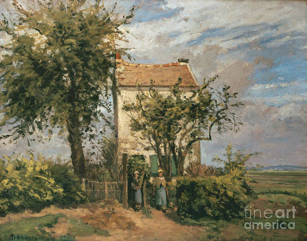 Road Poster featuring the painting The Road To Rueil by Camille Pissarro