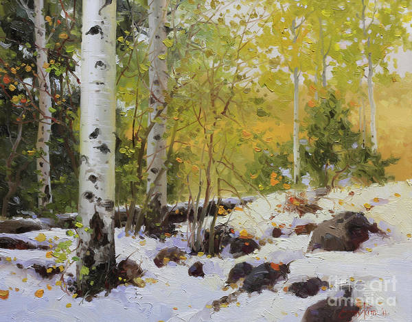 Aspen Poster featuring the painting Winter Beauty Sangre De Mountain 2 by Gary Kim