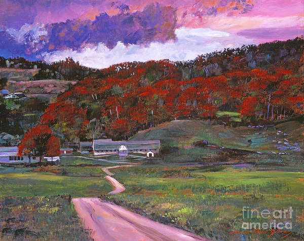 Landscape Poster featuring the painting Approaching Storm by David Lloyd Glover