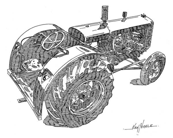 Tractor Poster featuring the drawing Advance Rumely by Ken Nickle