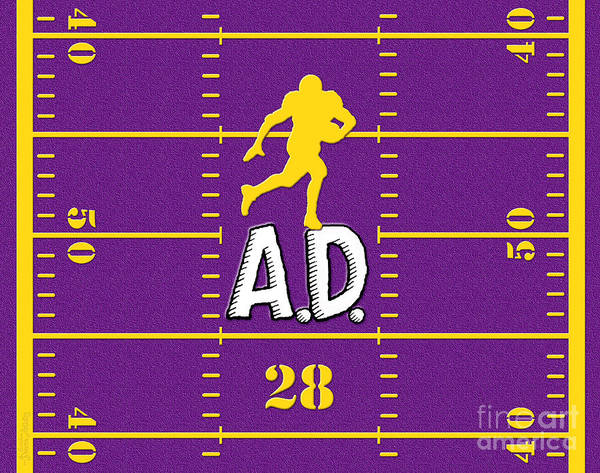 Adrian Peterson Poster featuring the digital art All Day by Cristophers Dream Artistry