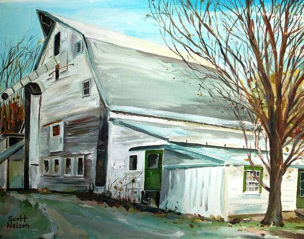 Millbury Ma Poster featuring the painting Better Days by Scott Nelson