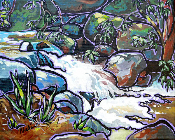 Creek Poster featuring the painting Creek by Nadi Spencer