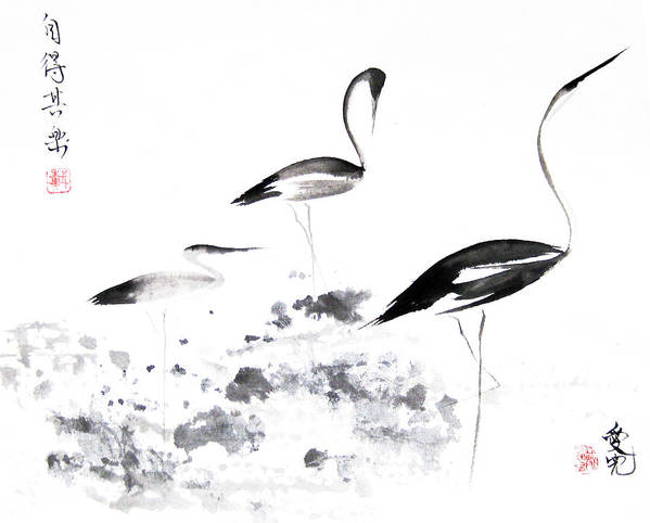 Tai Oi Yee Poster featuring the painting Each Finds Joy In His Own Way by Oiyee At Oystudio