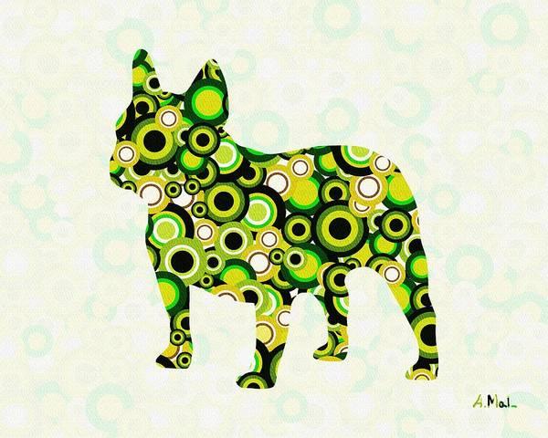 Malakhova Poster featuring the digital art French Bulldog - Animal Art by Anastasiya Malakhova