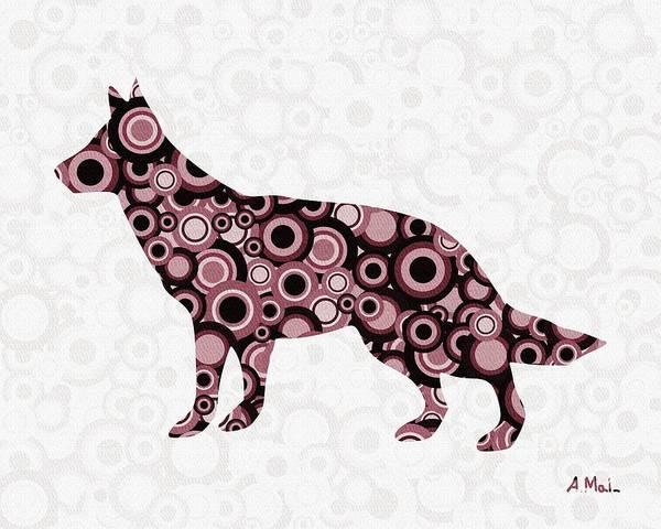 Malakhova Poster featuring the digital art German Shepherd - Animal Art by Anastasiya Malakhova