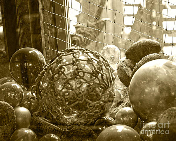 Ocean Floats Poster featuring the photograph Glass Balls Japanese Glass Buoys by Artist and Photographer Laura Wrede