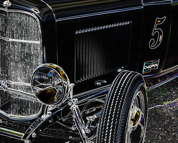 Deuce Coupe Poster featuring the photograph Glowing Deuce by Steve McKinzie
