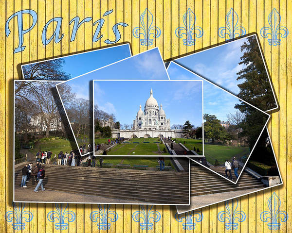 Sacre Coeur Poster featuring the photograph High On A Hill In Paris - Sacre Coeur by Mark E Tisdale