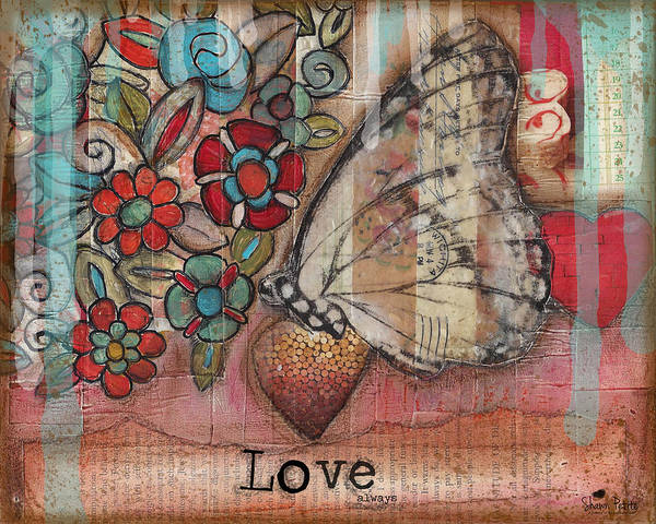 Heart Poster featuring the mixed media Love Always by Shawn Petite