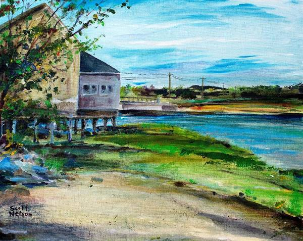 Billy's Cowder House Poster featuring the painting Maine Chowder House by Scott Nelson